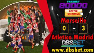 marseille 0-3 atletico madrid final liga europa