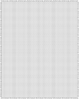 Peyote graph paper for cylinder or delica beads