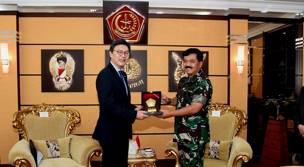 Panglima TNI Terima Dubes Korea Selatan