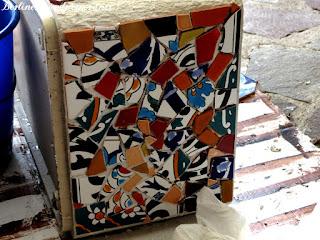 Blumenkübel Mosaik
