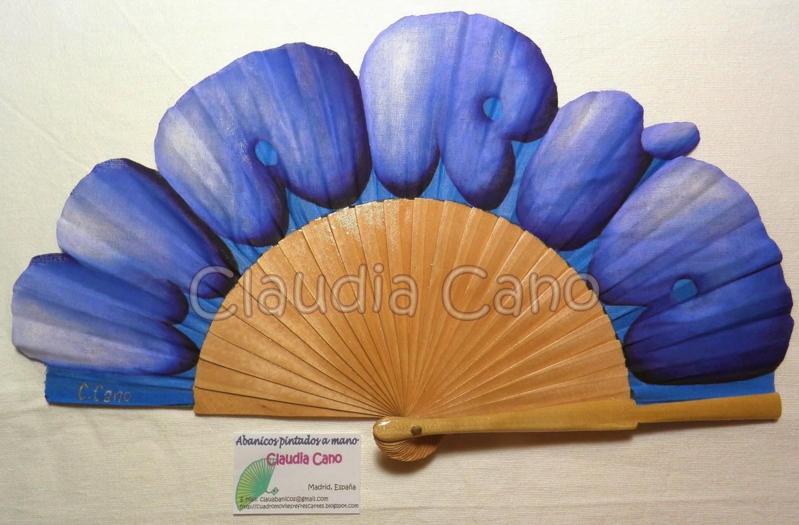 Abanicos pintados a mano por claudia cano abanico con - Como pintar abanicos ...