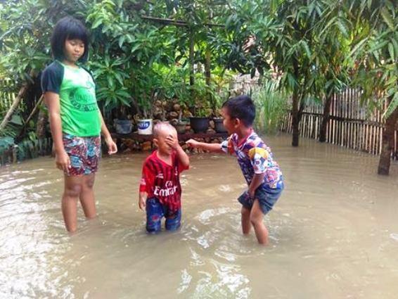Permukiman, Warga, Balangsembo, Selayar ,Terendam, Banjir