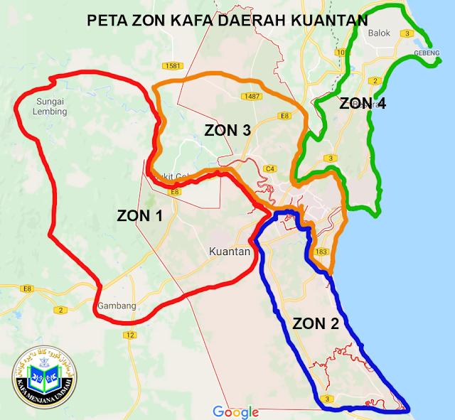 PETA ZON 1 KUANTAN