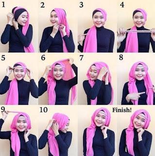 Tutorial hijab casual untuk remaja putri