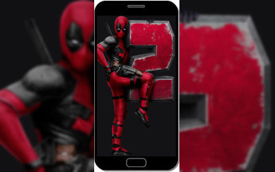 Deadpool 2 Number Hero - Fond d'écran en FHD pour Mobile