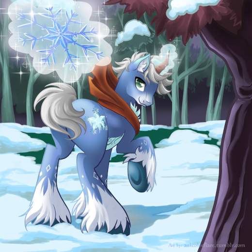 Blue Frost in the woods by RickyDemont