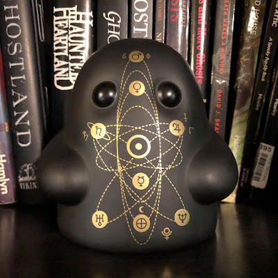 Space Cult Edition Tiny Ghost Vinyl Figure by Reis O'Brien (of Bimtoy) x Bottleneck Gallery