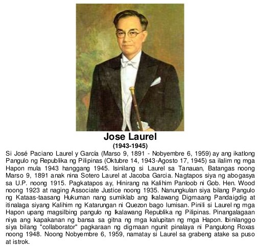talambuhay pangulong jose p laurel