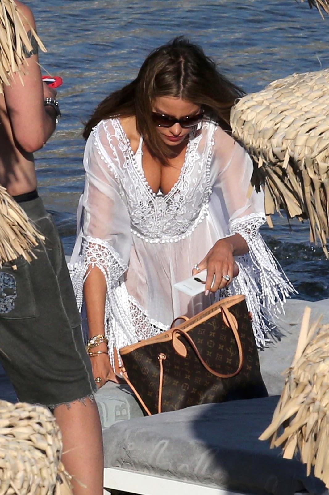 Sofia Vergara Bikini Candids In Greece Hot Celebs Pictures