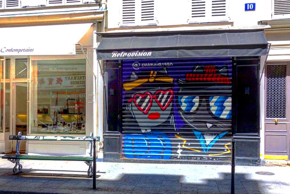 Sunday street art chanoir rue rambuteau paris 3 paris la douce - Rue rambuteau paris ...