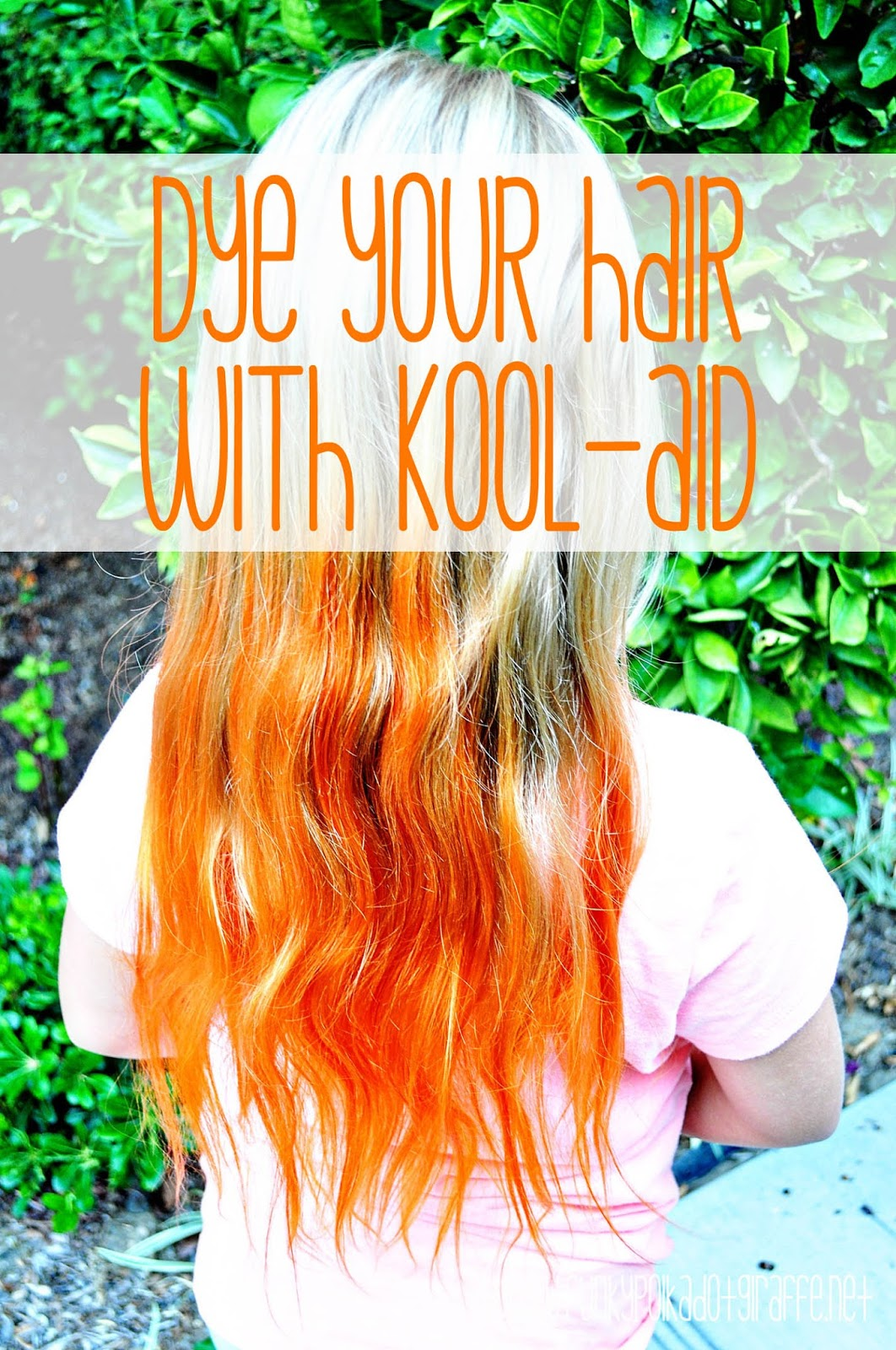 Funky Polkadot Giraffe Orange Hair Dont Care Dye Your Hair With