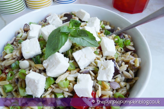 Eurovision Song Contest Party - Roasted Vegetable Orzo Salad