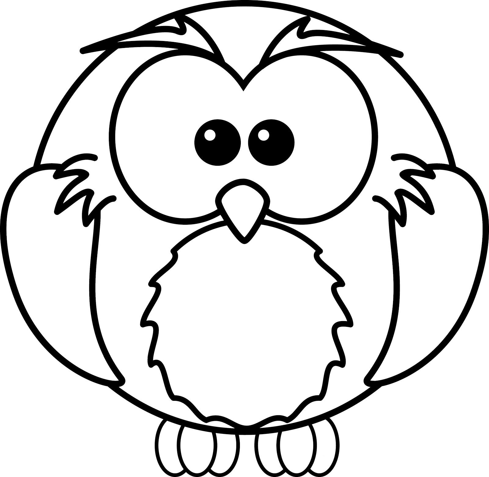 Gambar Mewarnai Burung Hantu Untuk Kolase Download Gambar Mewarnai