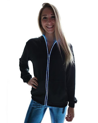 Clever Gadgets to Stay Visible In The Dark - Light up Hoodies