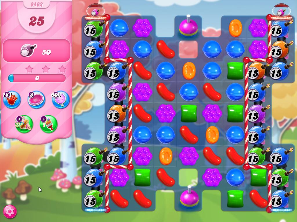 Candy Crush Saga level 3432