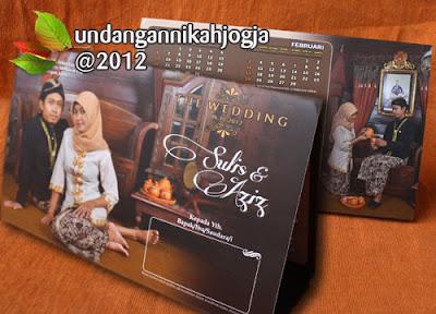 Undangan kalender soft cover lipat 4