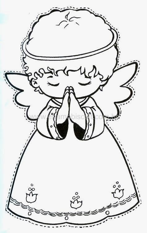 Angel Praying Template Oh My First Communion
