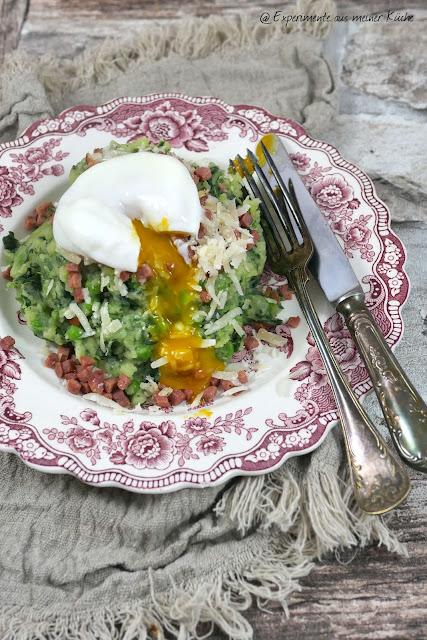 Kartoffel-Erbsen-Stampf à la Carbonara | Rezept | Kochen | Essen | Weight Watchers