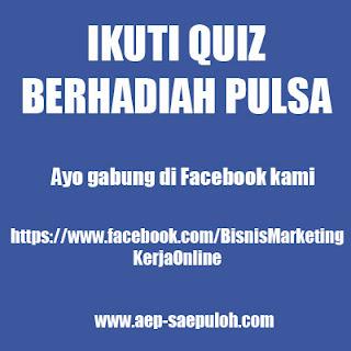 Quiz berhadiah pulsa