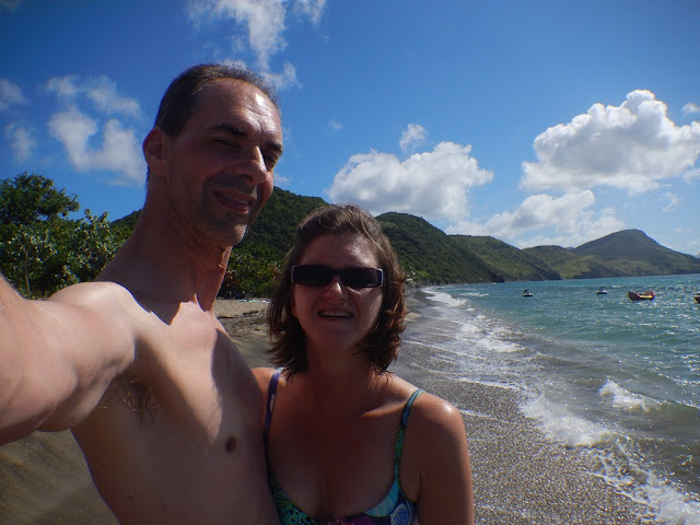 Friar's Beach St. Kitts selfie