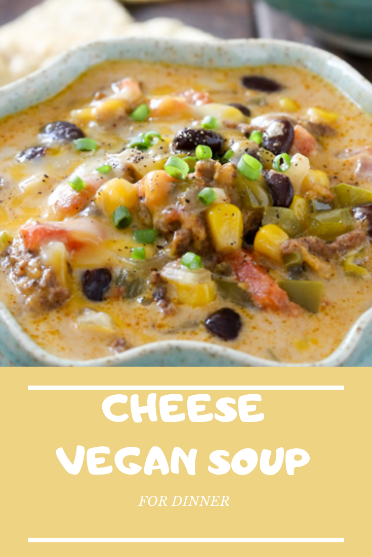 Healthy Cheese Vegan Soup For Dinner