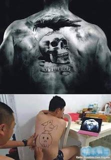 Tetoválás koponya