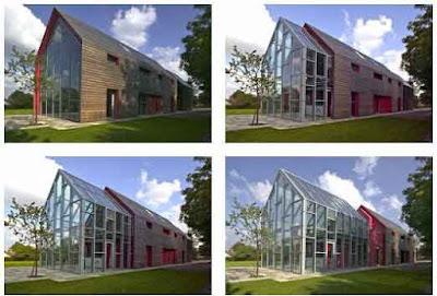 desain bentuk rumah arstitek bangunan desainer paling unik kreatif rancangan bagus 3d draft gambar foto tampak depan samping belakang kamar ruangan interior eksterior