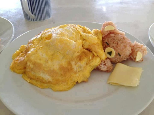 Sleeping Rice Bear