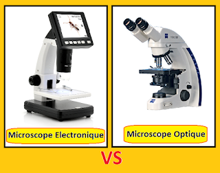 Le Microscope électronique VS Optique.