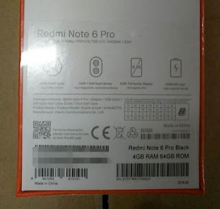 Redmi Note 6 Pro Leaked Features