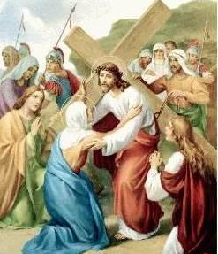 Dibujo de Jesús con María