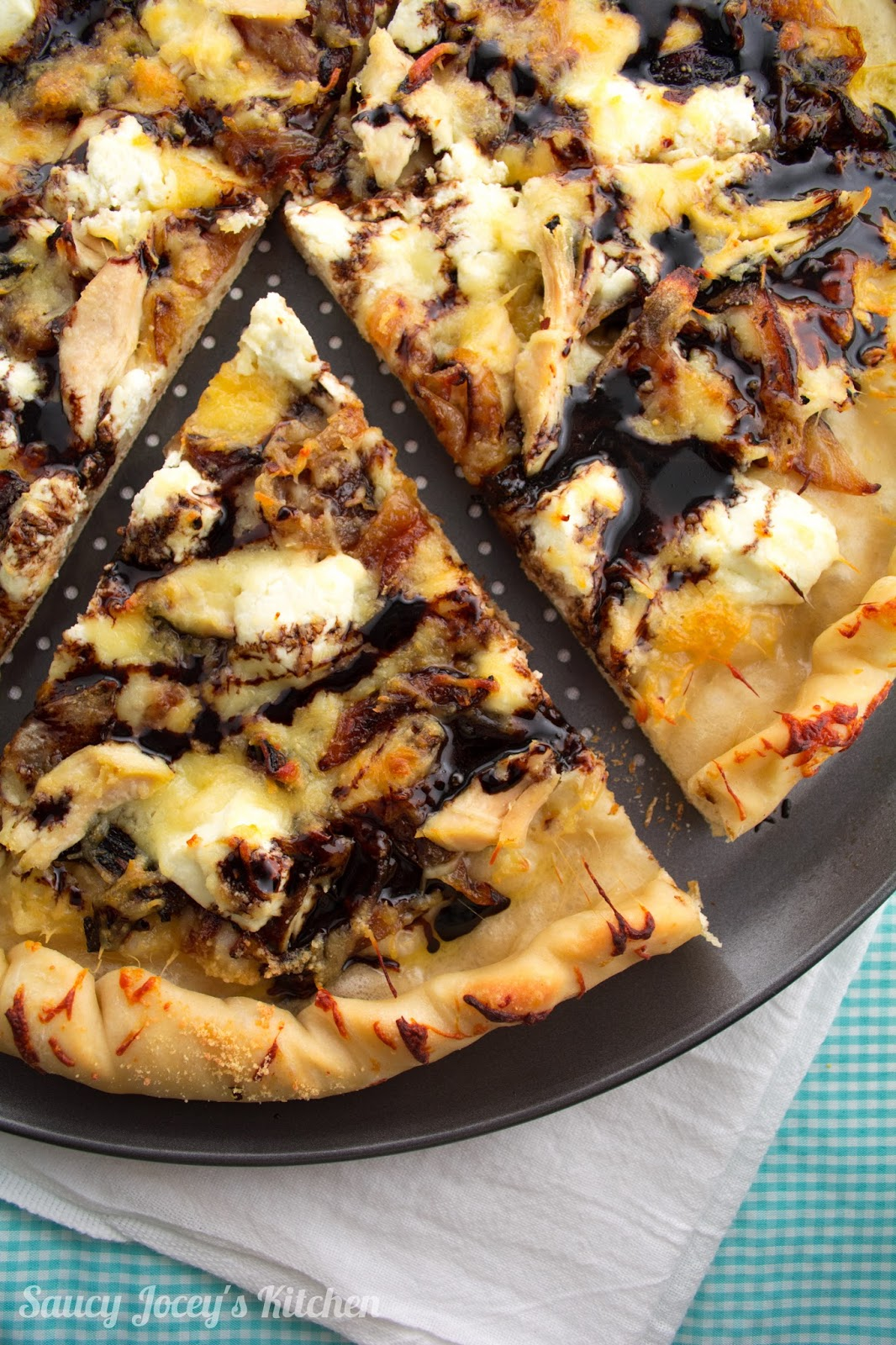 Saucy Jocey S Kitchen White Pizza With Balsamic Glaze