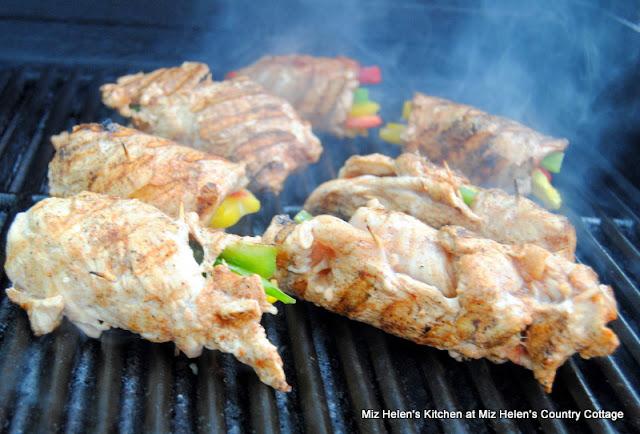 Grilled Chicken Fajita Roll Ups at Miz Helen's Country Cottage