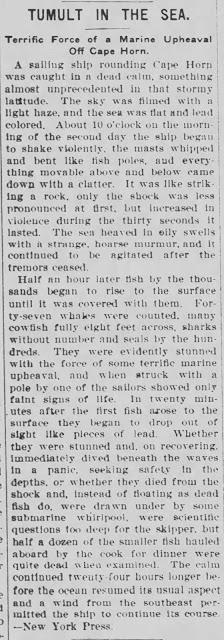 1908 quake kills 47 whales