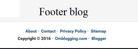 pengertian footer pada blog dan mengenal apa fungsinya
