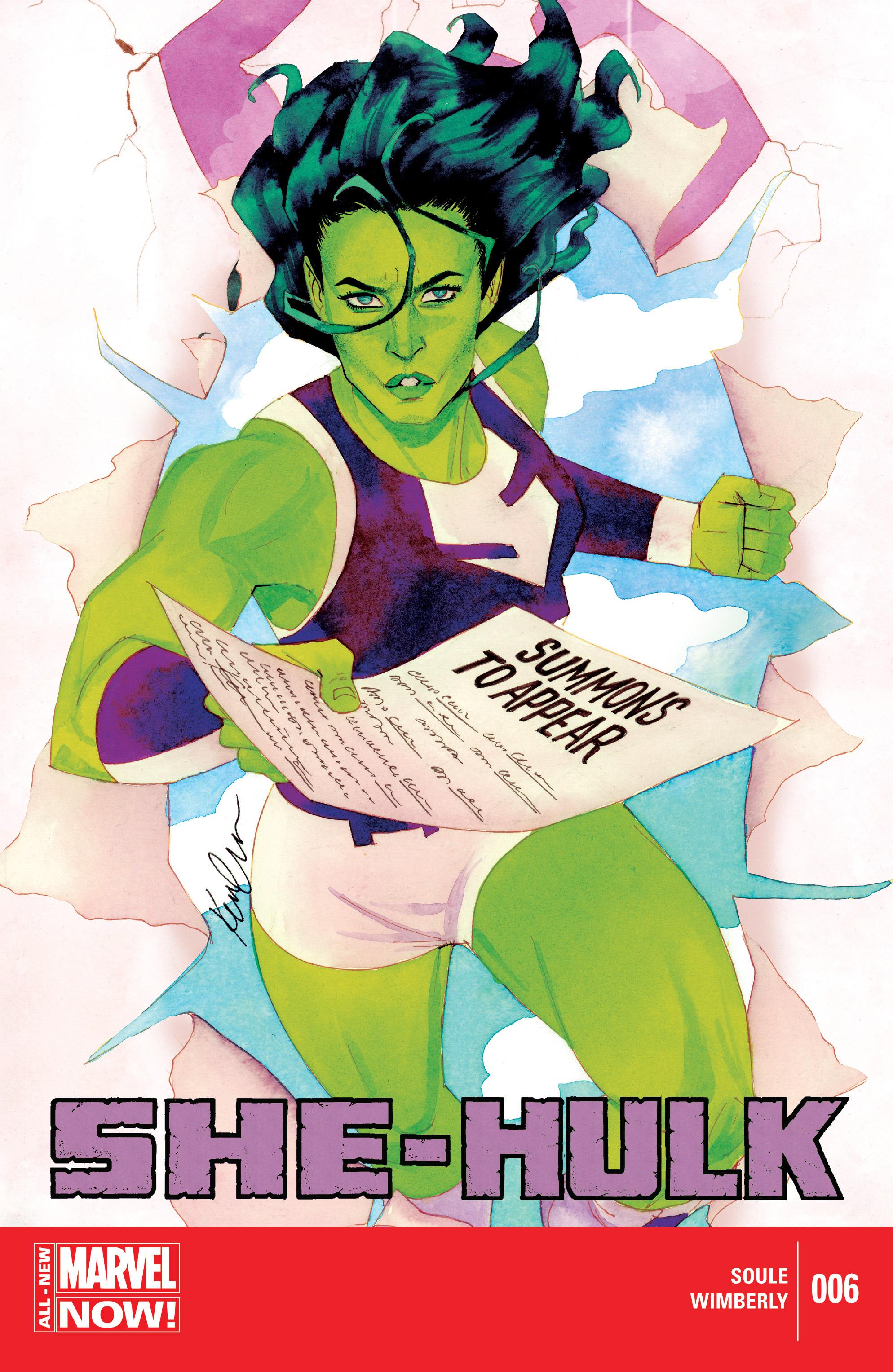 Read online She-Hulk (2014) comic -  Issue #6 - 1