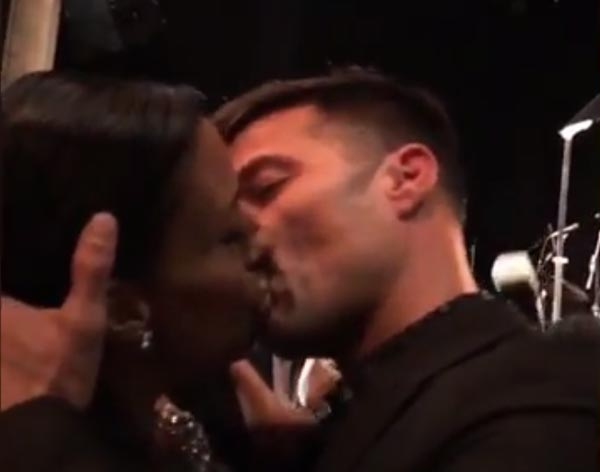 Video, Photos: Crazy Female Fan Pays N28m For Passionate Kiss With Ricky Martin