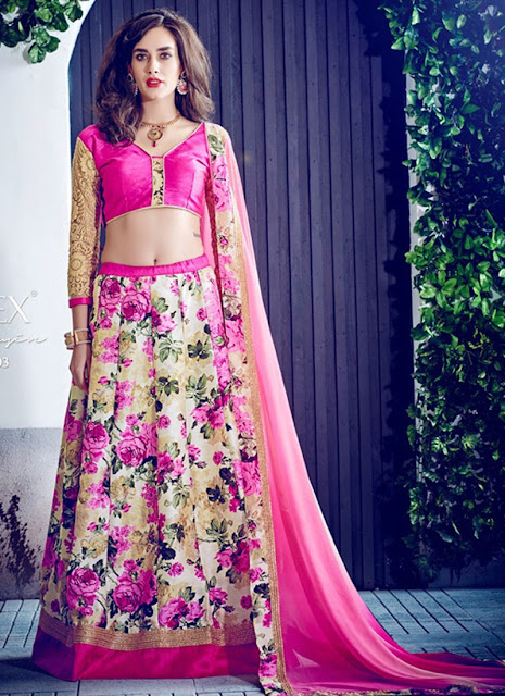 Women Fashion Girls Dress Newest Flower Lehnga Choli