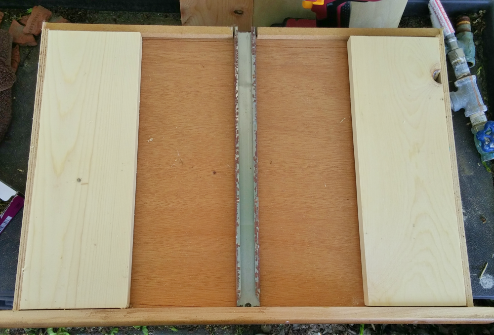 stabilizing the bottom of the footstool to add legs