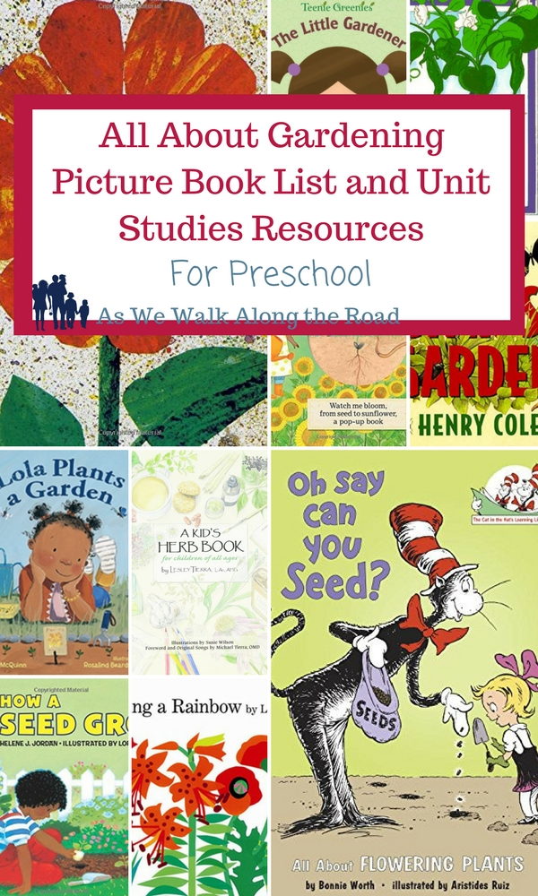 All About Gardening Picture Book List and Unit Studies Resources