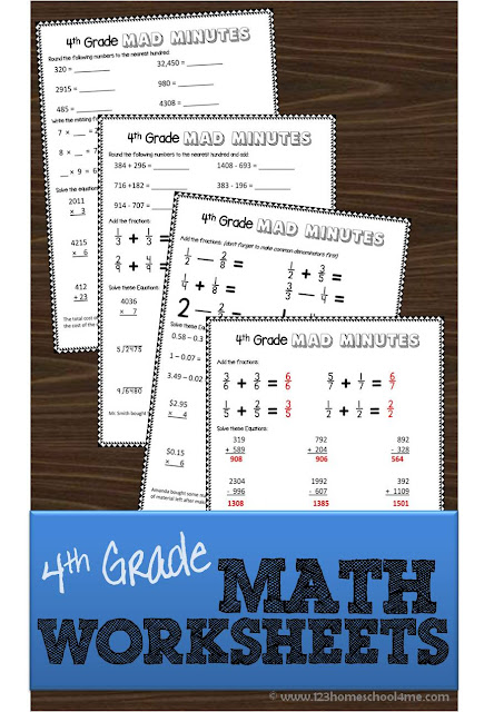 math worksheet : 4th grade math worksheets : Fourth Grade Math Worksheets Free
