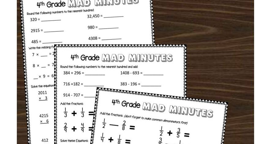 4th Grade Math Worksheets – 4rd Grade Math Worksheets
