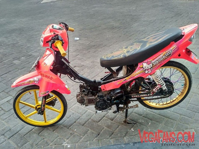 Modifikasi Vega R New Modif ala Thailook Warna Pink
