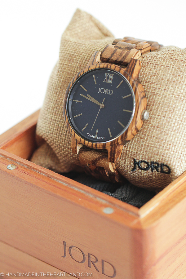 beautiful handmade men's wood watch
