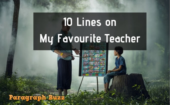 10 Lines on My Favourite Teacher in English