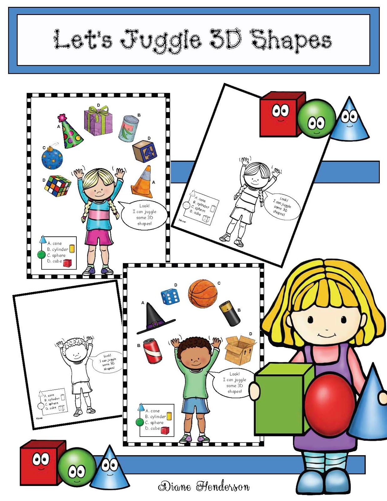 Let S Juggle 3d Shapes Worksheets
