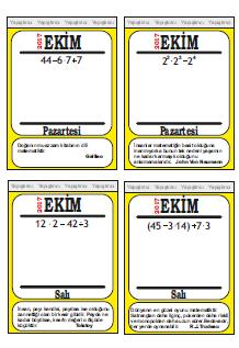 6 Sınıf Matematik Işlem önceliği Takvimi Etkinliği Ortaokul