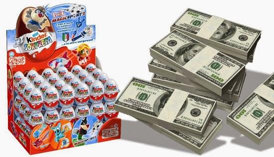 Kinder ovo proibido nos EUA - Multa de 12 mil dólares