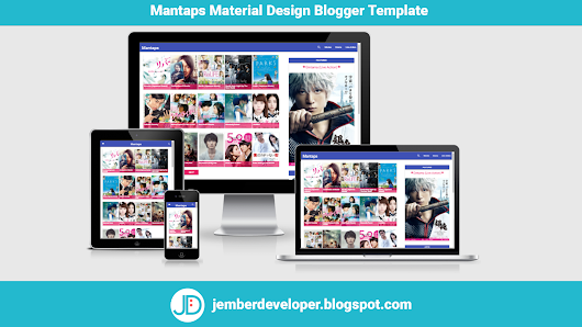 Mantaps Material Design Blogger Template