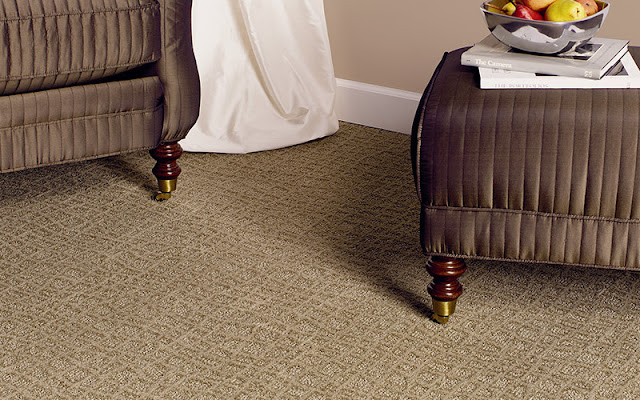 The texture in this carpet also adds an pattern element.